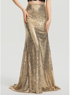 Trumpet/Mermaid Sweep Train Sequined Prom Dresses (018199630)