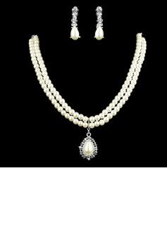 Elegant Alloy With Pearl Rhinestone Women's Jewelry Sets (011005583)