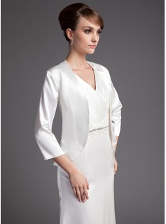 3/4-Length Sleeve Charmeuse Special Occasion Wrap (013016773)