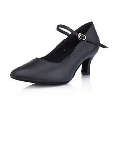 Real Leather Heels Pumps Modern Dance Shoes (053013009)