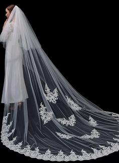 Dos capas Con Aplicación de encaje Velos de novia capilla con Encaje (006201035)