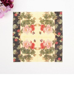 Flower Pattern Dinner Napkins (Set of 50 ) (122039574)