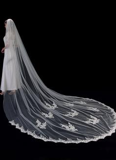 Uno capa Con Aplicación de encaje Velos de novia capilla con Encaje (006201033)