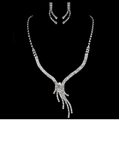 Elegant Alloy With Rhinestone Ladies' Jewelry Sets (011005471)