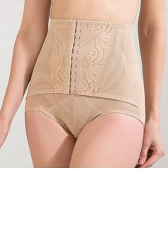 Cotton/Chinlon with Lace Front Busk Closure Shaping Panties (125033940)