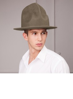 Men's Fashion Autumn/Winter Wool With Bowler/Cloche Hat (196075469)