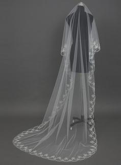 1 couche Voiles de mariée chappelle avec Liseret (006034462)