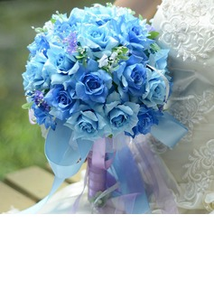 Graceful Round Satin Bridal Bouquets (124032103)