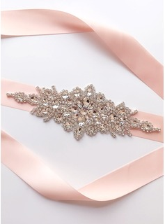 Exquisite Satin Sash With Rhinestones (015197453)