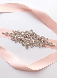 Exquisito Satén Fajas con Diamantes de imitación (015197453)