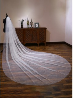 One-tier Cut Edge Cathedral Bridal Veils With Lace (006190597)