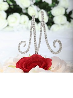 Monogram Chrome Wedding Cake Topper (119030826)