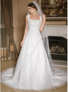 One-tier Pencil Edge Cathedral Bridal Veils (006024551)