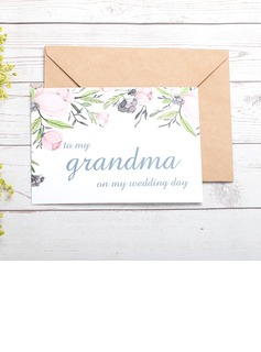 Bride Gifts - Classic Paper Wedding Day Card (255184415)