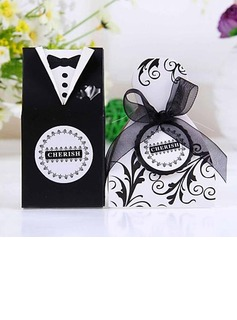 Bride & Groom Favor Boxes With Ribbons (Set of 12) (050024709)