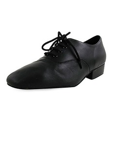 Men's Kids' Real Leather Flats Latin Modern Dance Shoes (053012953)