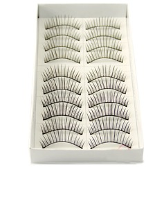 Manual Looking Curved Lashes 128# - 10 Pairs Per Box  (046026694)