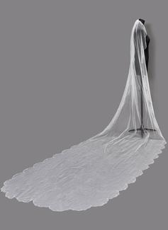Uno capa Con abalorios Velos de novia capilla con Cuentas (006203723)