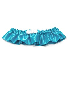 Vintage Satin With Flower Wedding Garters (104031826)