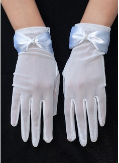 Tulle Wrist Length Bridal Gloves (014189806)