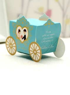 Bride & Groom/Carriage Favor Boxes (Set of 12) (050028068)