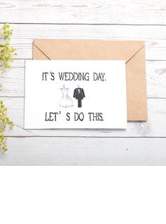 Bride Gifts - Classic Paper Wedding Day Card (255184411)