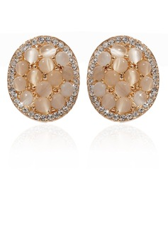 Pretty Alloy/Crystal Ladies' Earrings (011027319)