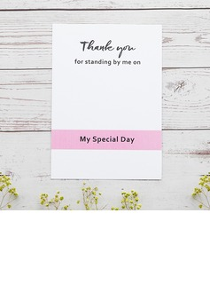 Bridesmaid Gifts - Classic Elegant Paper Wedding Day Card (256176229)