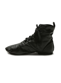 Unisex Real Leather Boots Jazz Ballroom Dance Shoes (053018529)