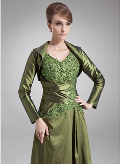 Long Sleeve Taffeta Special Occasion Wrap (013012409)