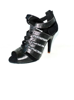 Women's Real Leather Heels Sandals Latin Ballroom Dance Shoes (053012977)