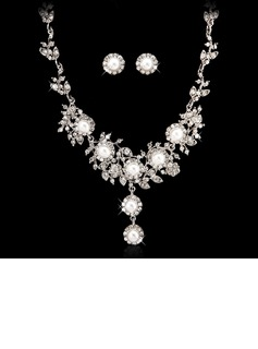 Shining Alloy/Pearl With Crystal Ladies' Jewelry Sets (011027557)