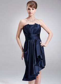 Etui-Linie Wellenkante Asymmetrisch Charmeuse Festliche Kleid mit Gestufte Rüschen (020036589)