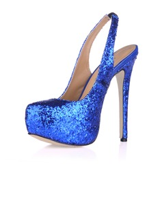 Sprankelende Glitter Stiletto Heel Pumps Plateau Closed Toe schoenen (085017466)