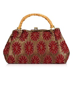 Fashional Cotton With Beading/Floral Print Clutches (012028018)