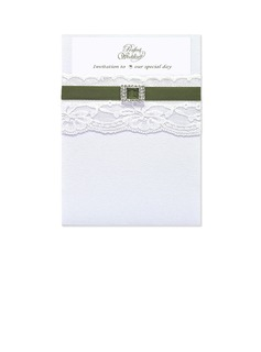 Classic Style Wrap & Pocket Invitation Cards (Set of 10) (118040277)