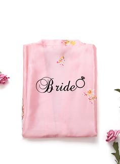 personnalisé charmeuse la mariée Demoiselle d'honneur Maman Demoiselle d'honneur junior Robes Florales Robes Brodées (248199942)