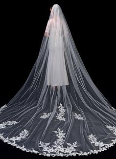 Uno capa Con Aplicación de encaje Velos de novia capilla con Encaje (006201036)