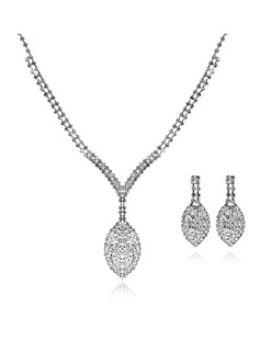Gorgeous Alloy/Rhinestones Ladies' Jewelry Sets (011006983)