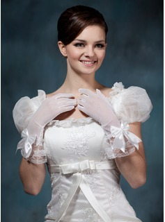 Voile Wrist Length Party/Fashion Gloves/Bridal Gloves (014020483)