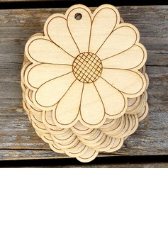 Nice/Beautiful/Flower Design Nice/Lovely/Pretty Wooden Wedding Ornaments (set of 10) (131178934)