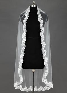 Waltz Bridal Veils With Lace Applique Edge (006053156)