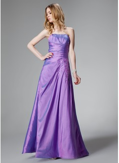 Corte A/Princesa Escote corazón Vestido Tafetán Dama de honor con Volantes Encaje (007000816)