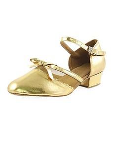 Frauen Kinder Lackleder Heels Flache Schuhe Absatzschuhe Moderne mit Des Bowknot Tanzschuhe (053013436)