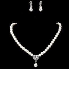 Elegant Alloy/Pearl/Rhinestones Women's Jewelry Sets (011017852)