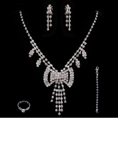 Elegant Alloy With Rhinestone Ladies' Jewelry Sets (011005490)