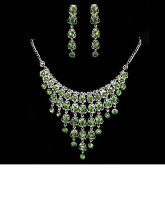 Elegant Alloy/Rhinestones Ladies' Jewelry Sets (011005480)