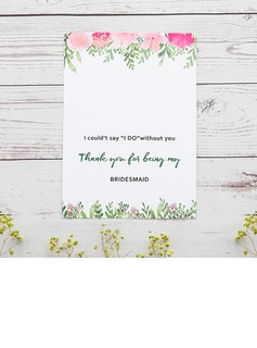 Bridesmaid Gifts - Classic Elegant Paper Wedding Day Card (256176228)
