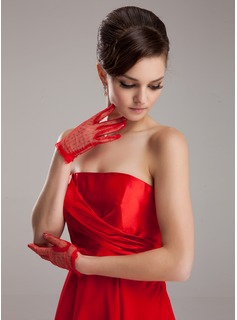 Tulle Wrist Length Party/Fashion Gloves (014020472)