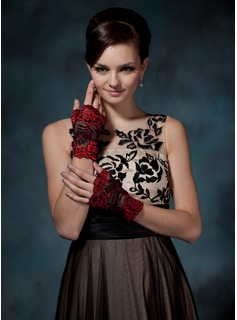 Tulle Wrist Length Party/Fashion Gloves (014020533)